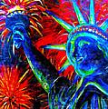 Lady Liberty Print by Teshia Art