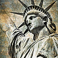 Lady Liberty vintage Print by Delphimages Photo Creations