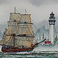 Lady Washington At Grays Harbor by James Williamson