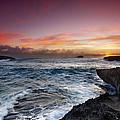 Laie Point Sunrise by Sean Davey