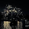 Lake Fireworks Print by Susan Garren