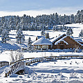 Lake House In Snow by Ron White
