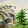Lake Tahoe - California Sketchbook Project by Irina Sztukowski