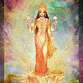 Lakshmi Floating In A Galaxy by Ananda Vdovic