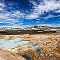 Landscape in North Iceland Leirhnjukur Print by Matthias Hauser