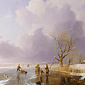 Landscape With Frozen Canal by Remigius van Haanen