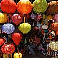 Lanterns Hanging In Shop In Hoi An by Sami Sarkis