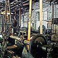 Large Lathe In Machine Shop by Susan Savad