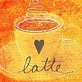 Latte Print by Linda Woods
