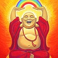 Laughing Rainbow Buddha by Sue Halstenberg