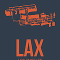 Lax Airport Poster 3 by Naxart Studio