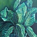 Leaves in a Vase Print by Ellen Howell