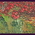 Leaves On The Creek 3 With Small Border 3 by L Brown