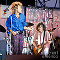 Led Zeppelin Page And Plant Live Aid 1985 by Chuck Spang