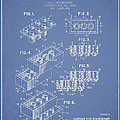 Lego Toy Building Brick Patent - Light Blue by Aged Pixel