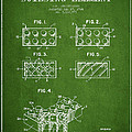 Lego Toy Building Element Patent - Green by Aged Pixel