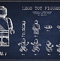 Lego Toy Figure Patent Drawing by Aged Pixel