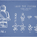 Lego Toy Figure Patent Drawing From 1979 - Light Blue by Aged Pixel