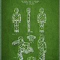 Lego Toy Figure Patent - Green by Aged Pixel