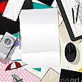 Letter Collage Abstract by Richard Laschon