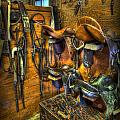 Life on the Ranch - Tack Room Print by Lee Dos Santos