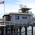 Lifeguard Headquarters On The Municipal Wharf At Santa Cruz Beach Boardwalk California 5D23827 Print by Wingsdomain Art and Photography