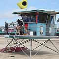 Lifeguard Shack At The Santa Cruz Beach Boardwalk California 5d23712 by Wingsdomain Art and Photography