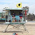 Lifeguard Shack At The Santa Cruz Beach Boardwalk California 5d23713 by Wingsdomain Art and Photography