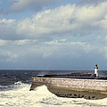 Lighthouse At Whitehaven Print by Amanda And Christopher Elwell