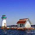 Lighthouse On The St Lawrence River by Olivier Le Queinec