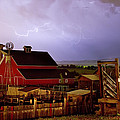 Lightning Strikes Over The Farm by James BO  Insogna