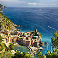 Ligurian Coast View At Vernazza by George Oze