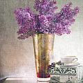 Lilacs In Vase 2 by Rebecca Cozart
