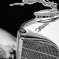 Lincoln Hood Ornament - Grille Emblem -1187bw Print by Jill Reger
