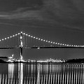Lions Gate Bridge Black And White by Naman Imagery