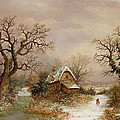 Little Red Riding Hood In The Snow by Charles Leaver