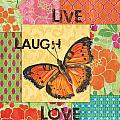 Live Laugh Love Patch by Debbie DeWitt