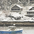 Lobster Boat After Snowstorm In Tenants Harbor Maine by Keith Webber Jr