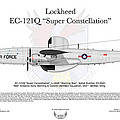 Lockheed Ec-121q Gold Diggers by Arthur Eggers