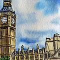 London England Big Ben by Irina Sztukowski