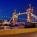 London Tower Bridge By Night by Melanie Viola