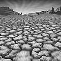 Long Walk On A Hot Day Print by Mike McGlothlen