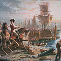 Lord Howe Organizes The British Evacuation Of Boston In March 1776 by English School