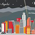Los Angeles Print by Karen Young