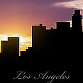 Los Angeles Sunset Print by Aged Pixel