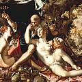 Lot And His Daughters by Joachim Antonisz Wtewael