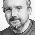 Louis Ck Portrait by Olga Shvartsur