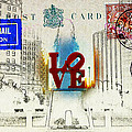 Love Park Post Card by Bill Cannon