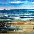 Low Tide Wells Beach Maine by Scott Nelson