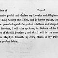 Loyalist Oath, 1779 by Granger
